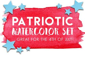 4th of July Watercolor Set