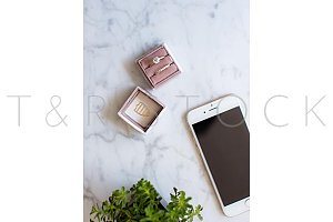 Phone Desktop Wedding Ring Box Photo