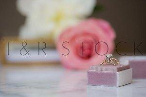 Wedding Ring Stylized Photo Rose