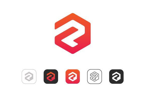 Simple Letter P R Logo