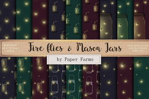 Fire fly and mason jars patterns