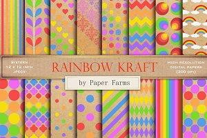 Rainbow kraft paper