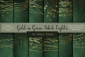 Gold bokeh lights