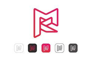 Simple M K Logo