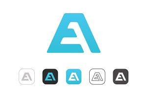Simple A E Logo