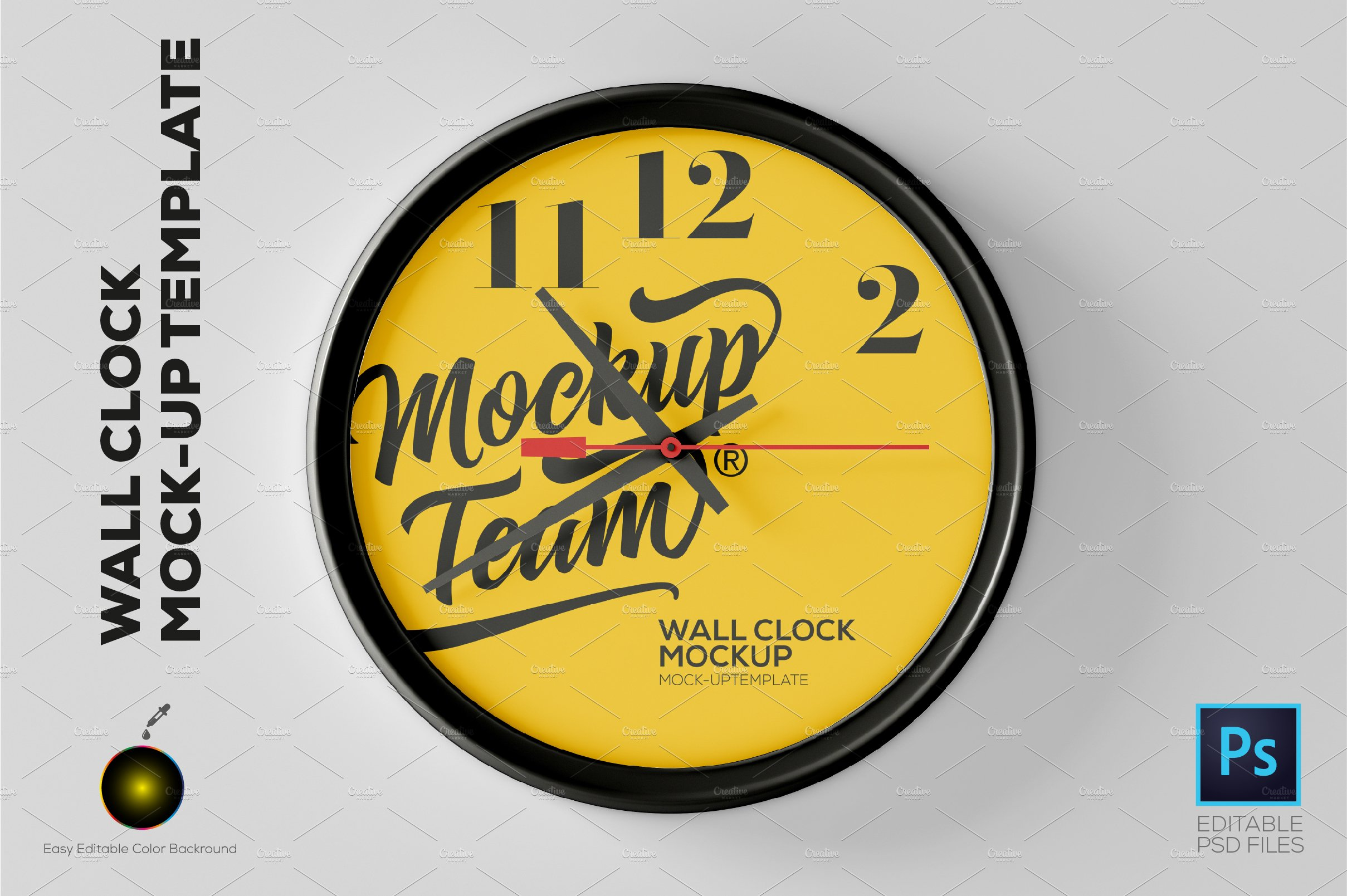 V1 wall clock mockup product mockups creative market wall clock mockup template amipublicfo Images