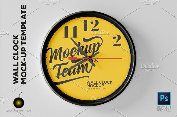 Download Wall Clock Mockup Template