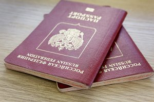 Two passports of citizens of the Russian Federation