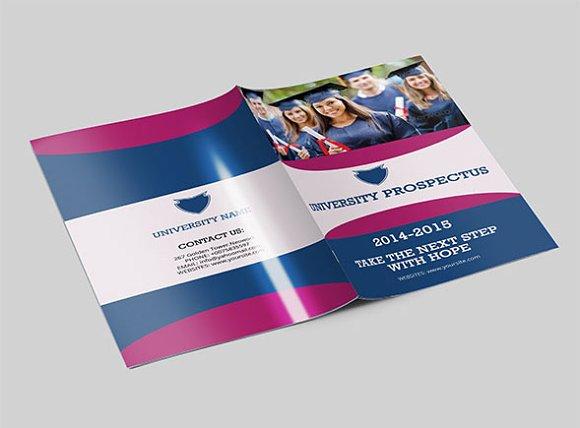 Brochure template 14 pagesV77 Brochure Templates on Creative – University Brochure Template