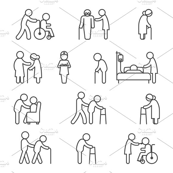 Disabled Healthcare Icons
