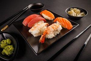Sashimi sushi rolls