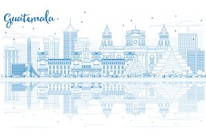 Outline Guatemala Skyline