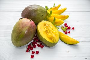 mangoes and berries