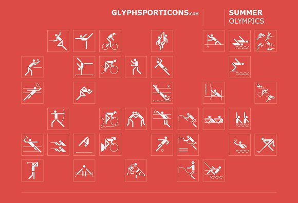 Basic Sport Icons Glyphsporticons