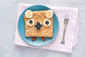 Peanut butter toast for kids