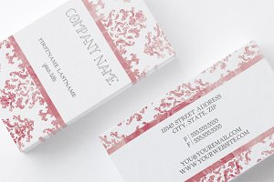Damask Watercolor Business Card