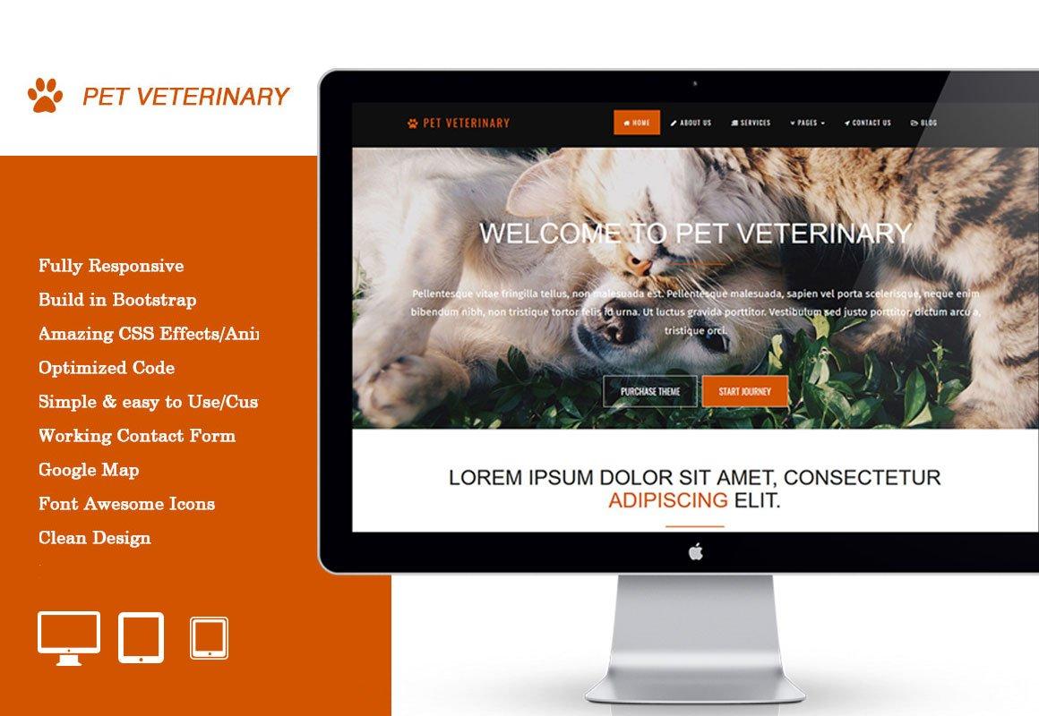 Pet Veterinary ~ Bootstrap Themes ~ Creative Market