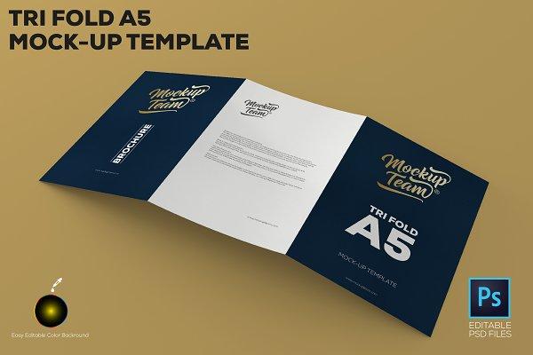 Tri-Fold A5 Brochure Mock-up