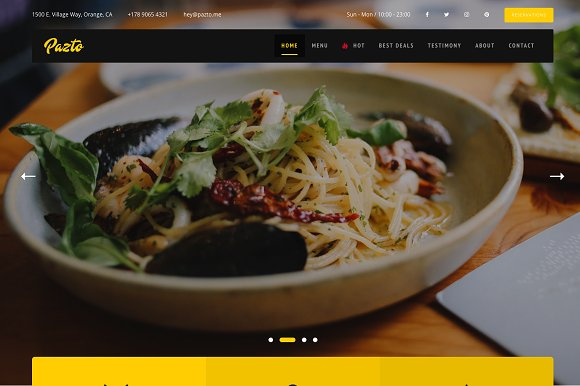 Pazto Food And Restaurant Theme
