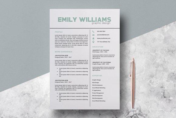 Resume Template CV Emily Williams