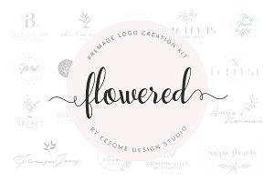 Handdrawn Floral Premade Logo Bundle