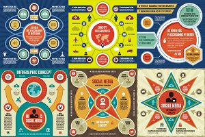 Infographic Concept - 6 Vectors