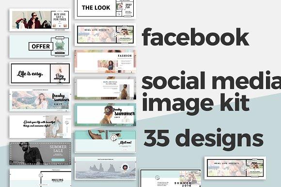 Facebook Timeline Cover Templates Facebook Templates Creative Market