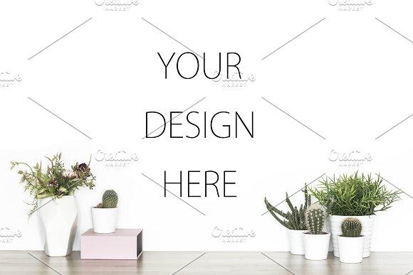 Blank Wall Product Mockup