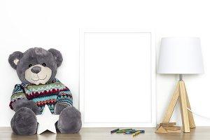 White frame mockup - nursery