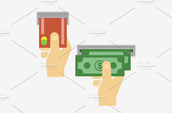 Hand With Money And Card
