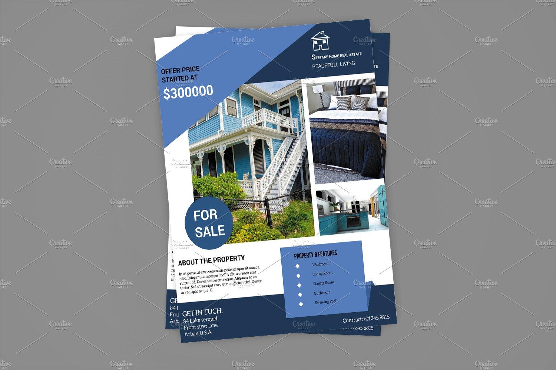 real estate flyer flyer templates creative market