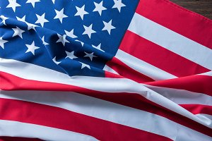 USA flag for background