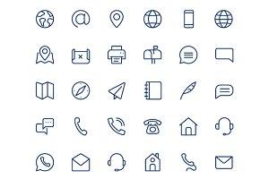 Contact line mini icons.