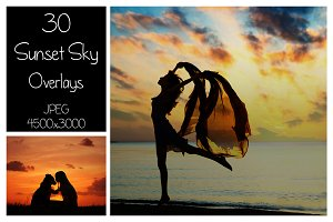 30 Dramatic Sunset Sky Overlays