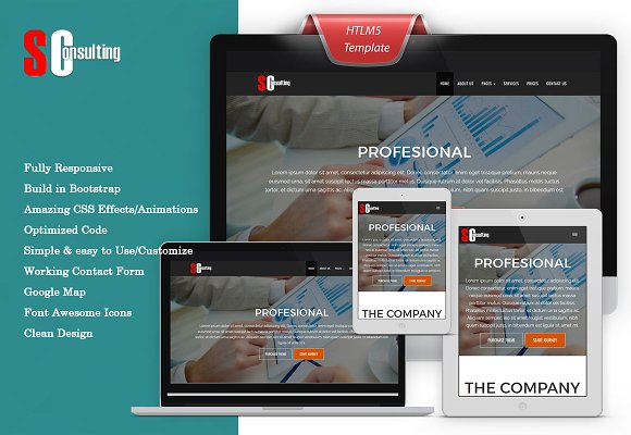 S Consulting HTML Template