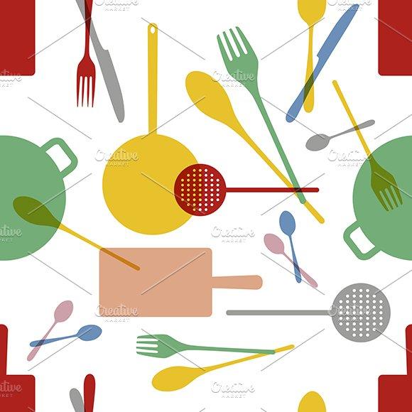 Kitchenware Vector Pattern