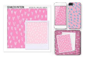 Seamless Heart Vector Pattern