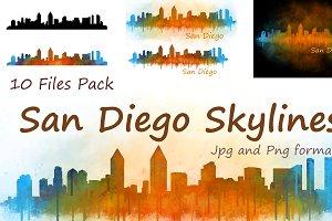10xFiles Pack San Diego Skylines