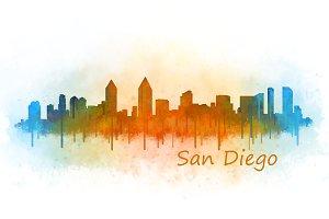 San Diego City Skyline V03