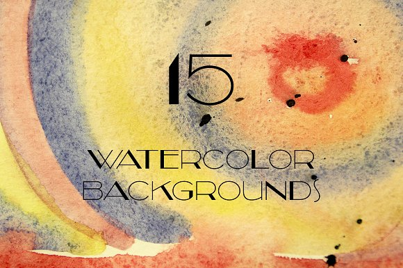 Watercolor Backgrounds #1