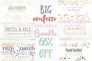 66%OFF CONFETTI scatter brush BUNDLE