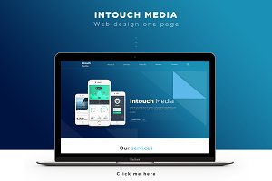Intouch Media - Landing Page (PSD)