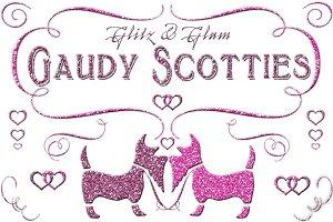 Gaudy Scottie Glitter Dogs with Love