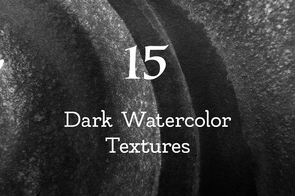 Dark Watercolor Textures #1