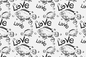 Love fish pattern
