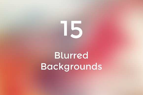 Blurred Backgrounds #1