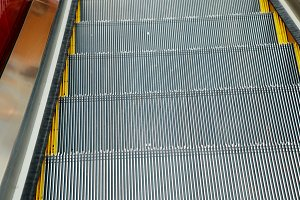 escalator and modern shopping mall