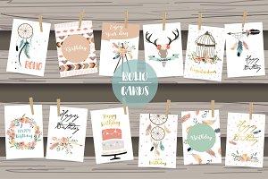 12 cute lovely design boho cards5#