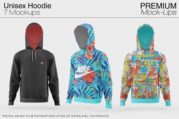 Free Unisex Hoodie Mockup Set