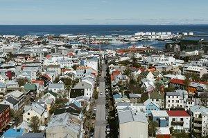 View over Reykjavik, Iceland